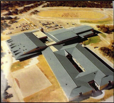 A birds-eye-view of West Ridge when the school first opened.