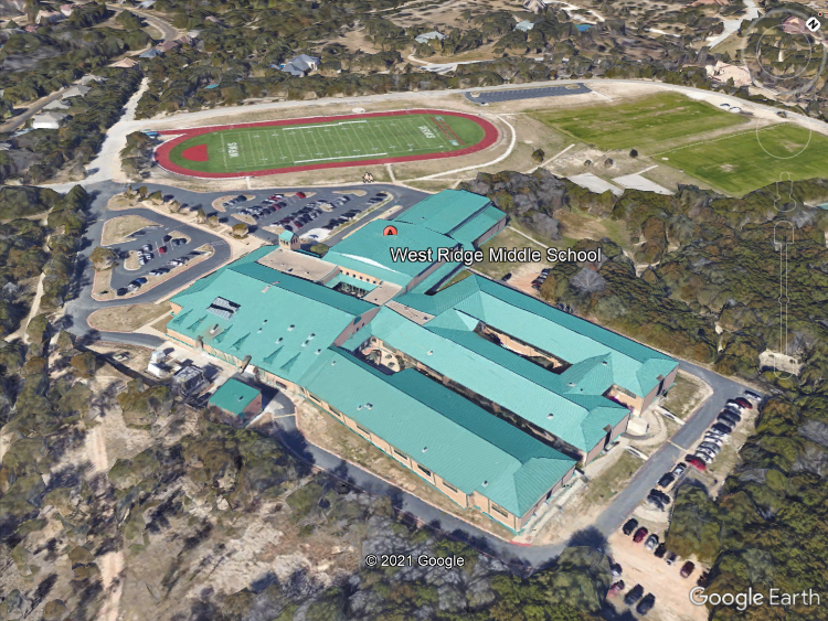 This is a birds-eye-view of West Ridge when it first opened.