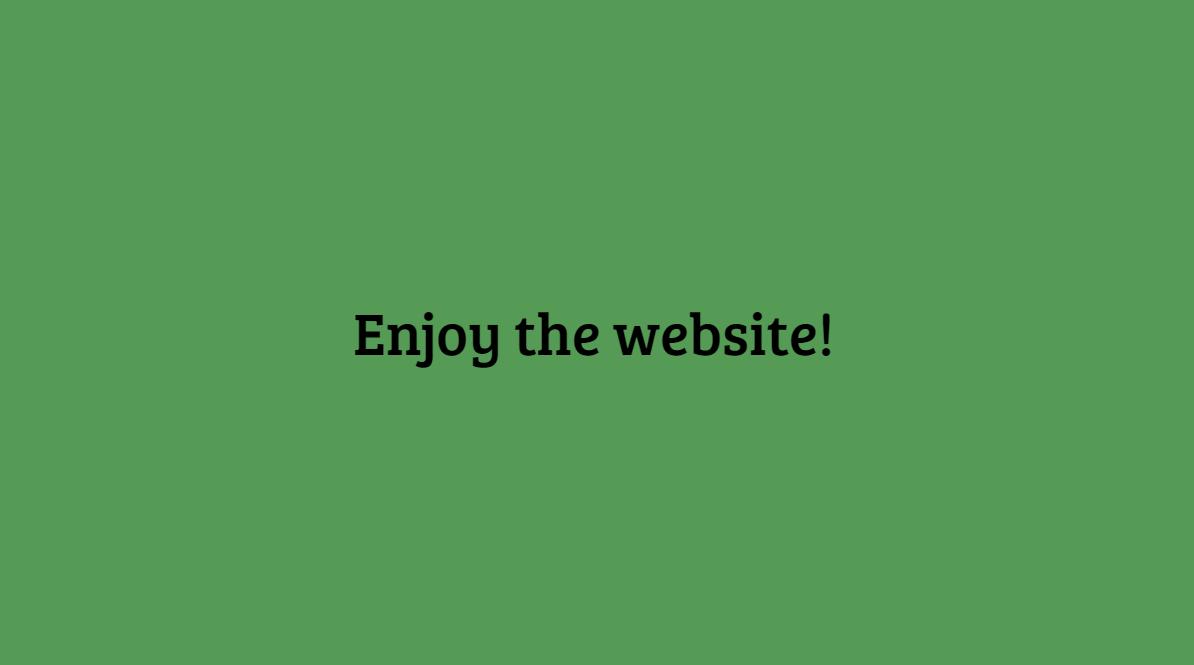 Enjoy the website!