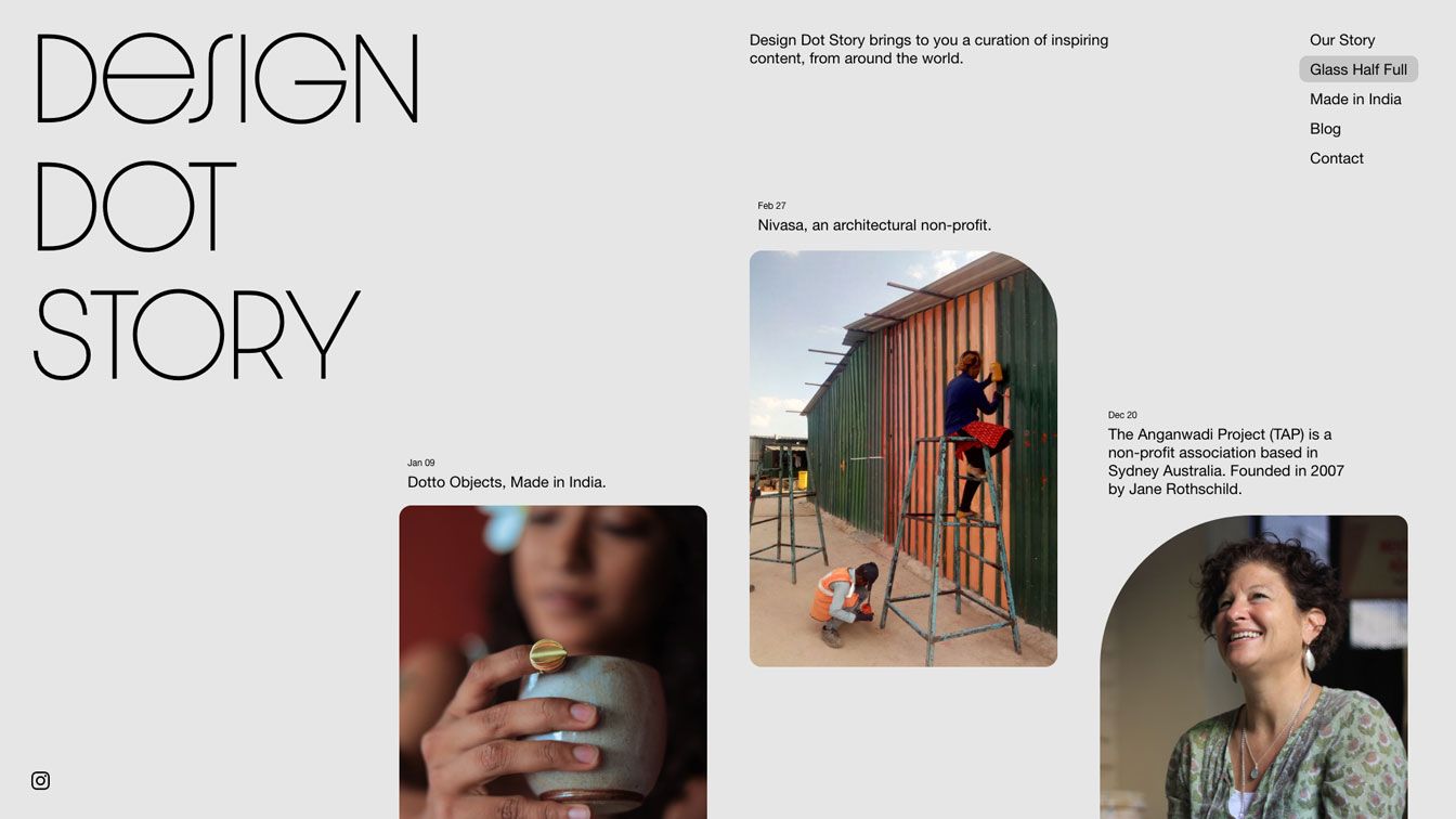 design dot story layout study