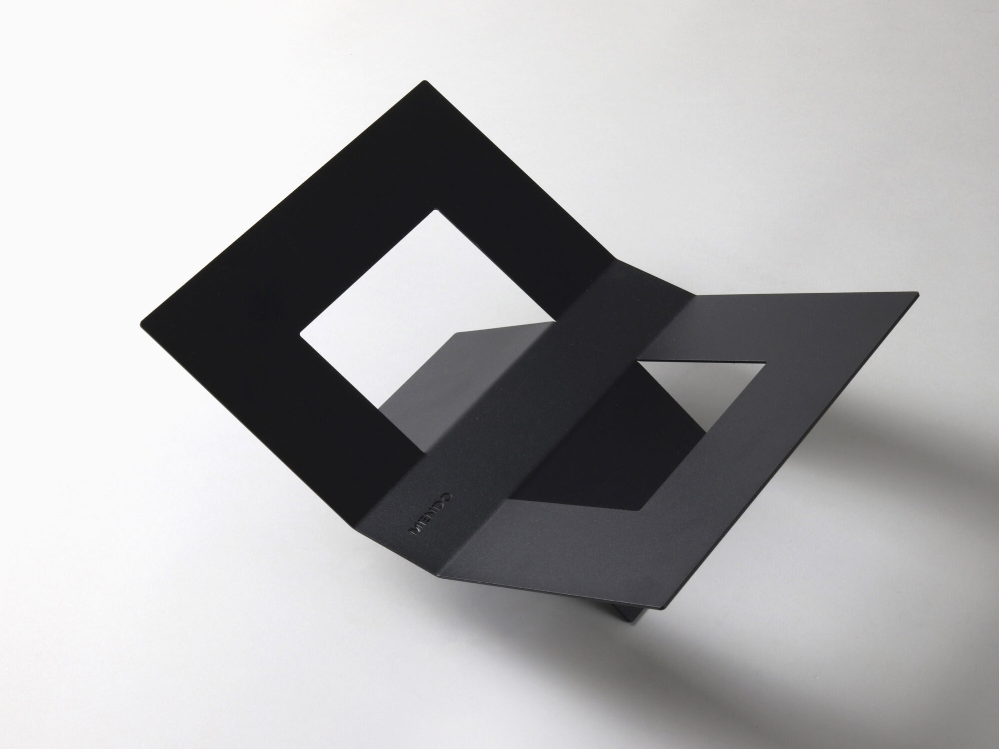 Mendo bookstand in black perspective view.