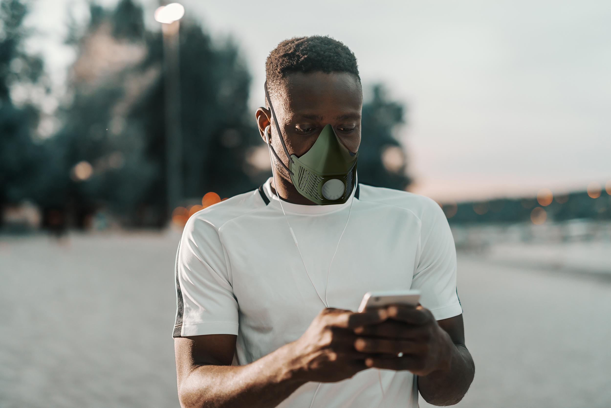 silicone mask man rendering