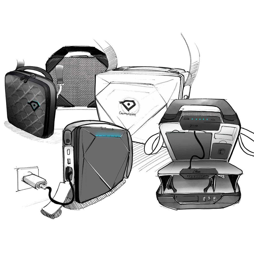 gemvision bag design sketches