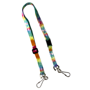 Adjustable Lanyard With Safety Breakaway Clasp Tie Dye