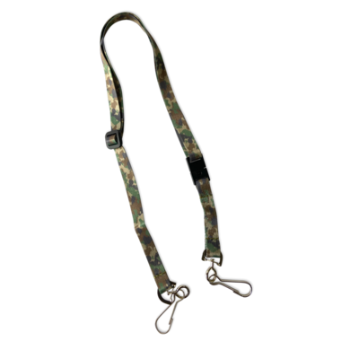 Adjustable Lanyard With Safety Breakaway Clasp Camouflage