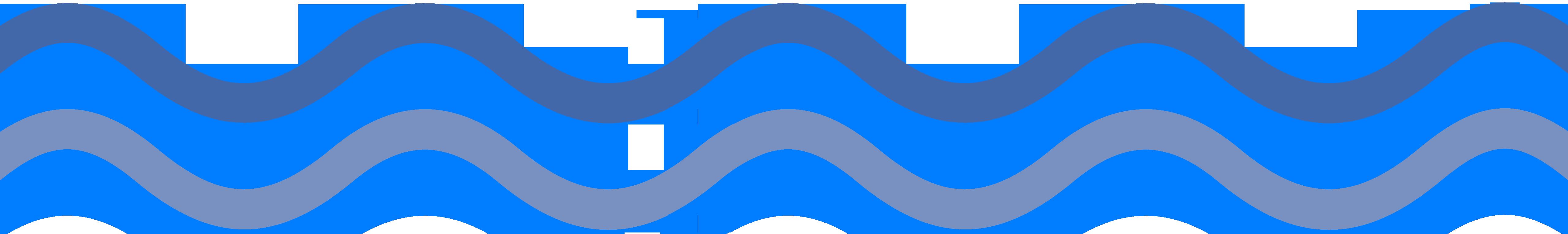 Wave top dark, under light blue.