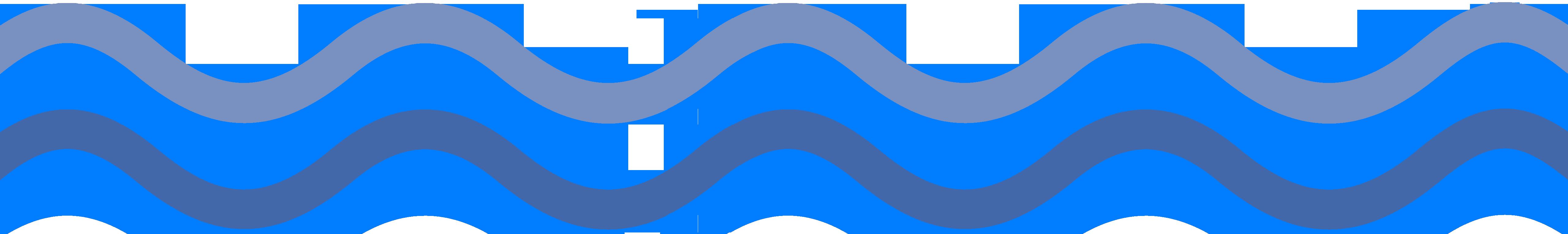 Wave top light, bottom dark blue