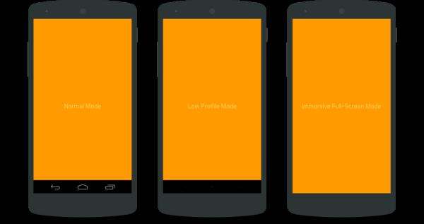 Múltiples formas de activar FullScreen en Android React Native
