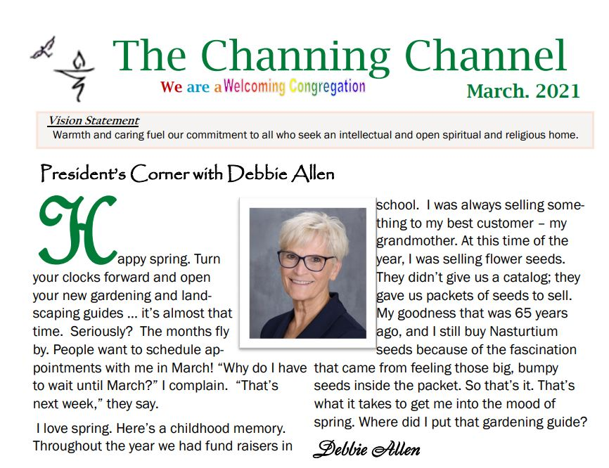 The Channing Channel - March 2021