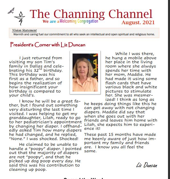 The Channing Channel - August 2021