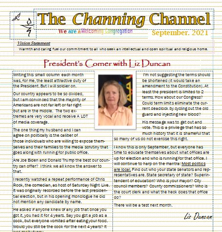Channing Channel - September 2021