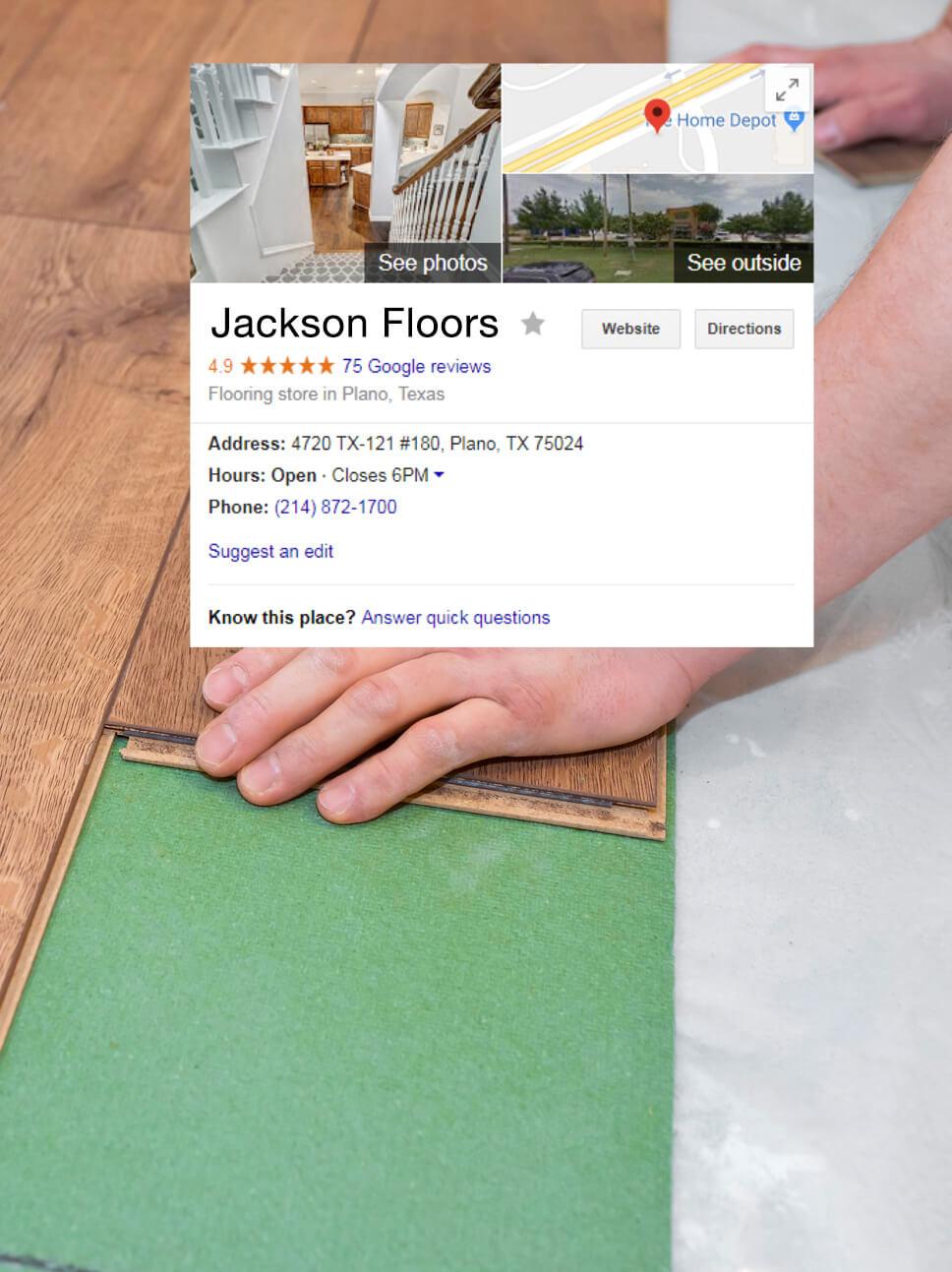 Flooring, tile and hardwood marketing