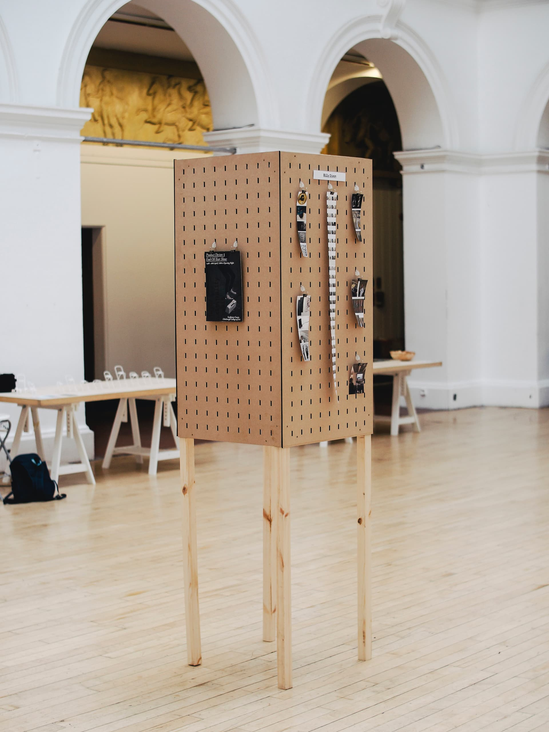 Exhibition identity of 3rd Year Product Design work at the intersection of technology and craft. Open to the public at Edinburgh College of Art Sculpture Court and running April 24th to April 28th.