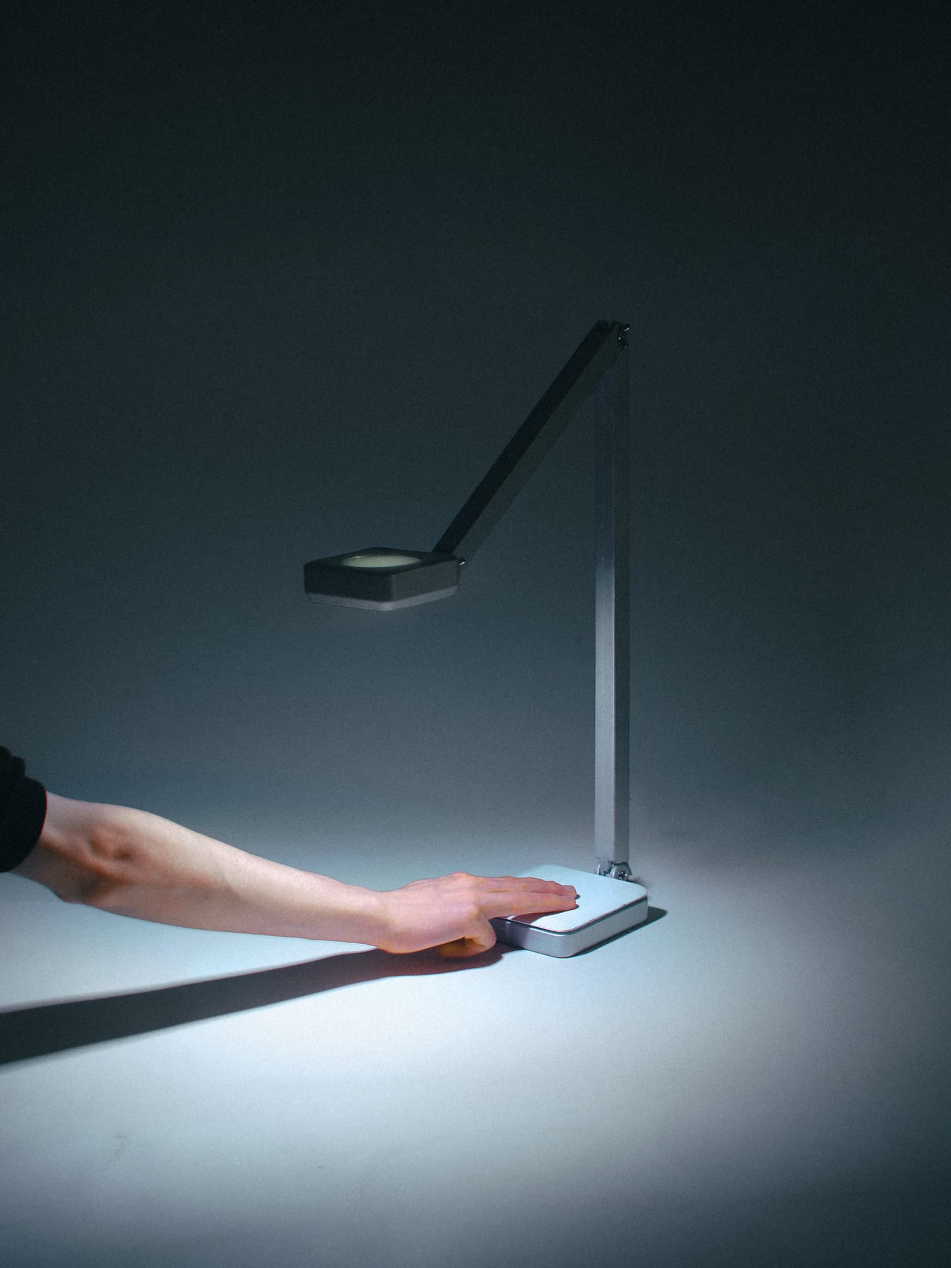 A lamp created for designers, crafts-people and artists as an intelligent exploration into colour and space, through the use of digital accuracy and colour sensing to allow you total creative freedom with light.
