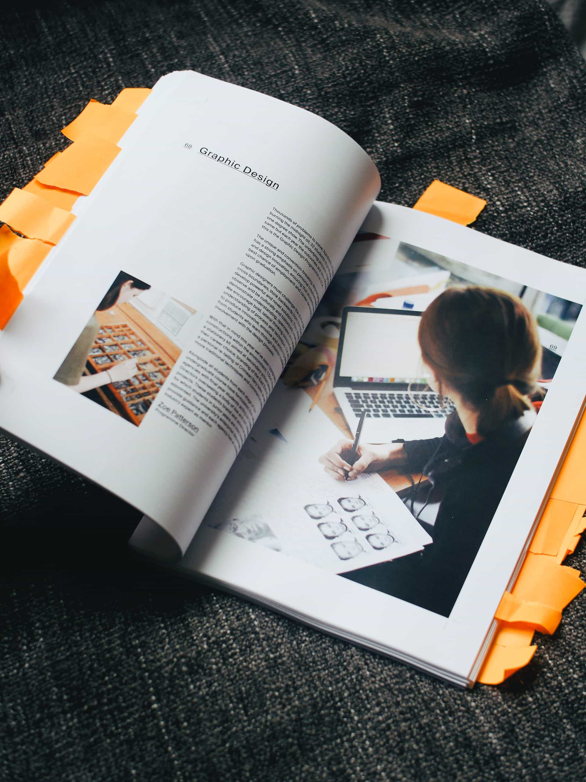 A printed catalogue to commemorate 200 graduating students of the School of Design, accompanied by rich studio photography and the story of final-year projects across 224 pages.