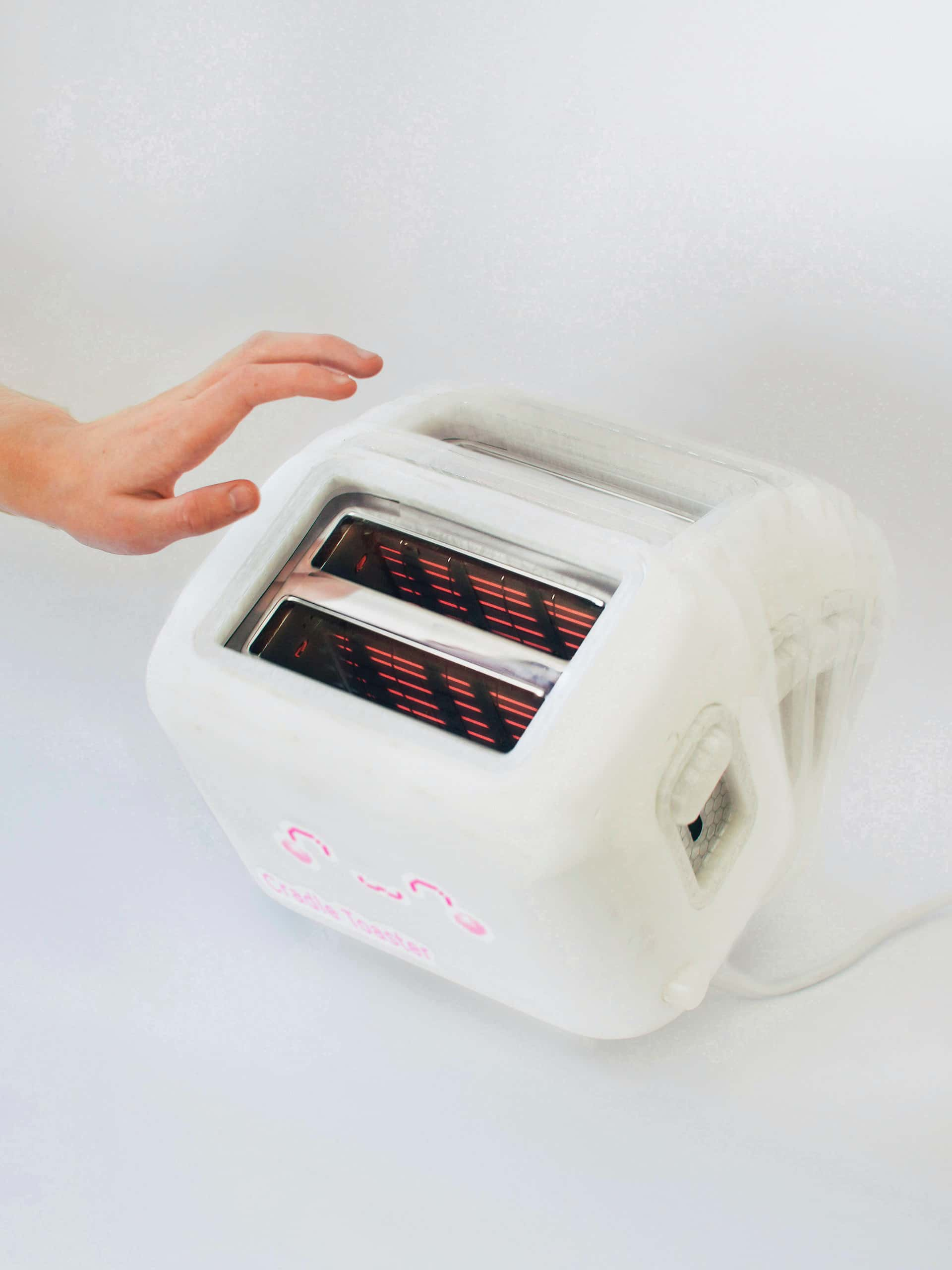 Eight conceptual toasters of the near-future kitchen—imagining a circus stage where through technology, autonomous objects compete for our attention and evolve to meet human needs with parasitic and tribalistic behaviour. Managing Newness is a vision of an expanded internet-of-things pushed to the point of satire.