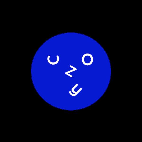 A blue circular logo of Cozy Wok
