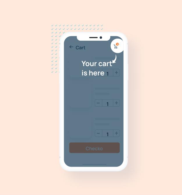 Guiding user to checkout