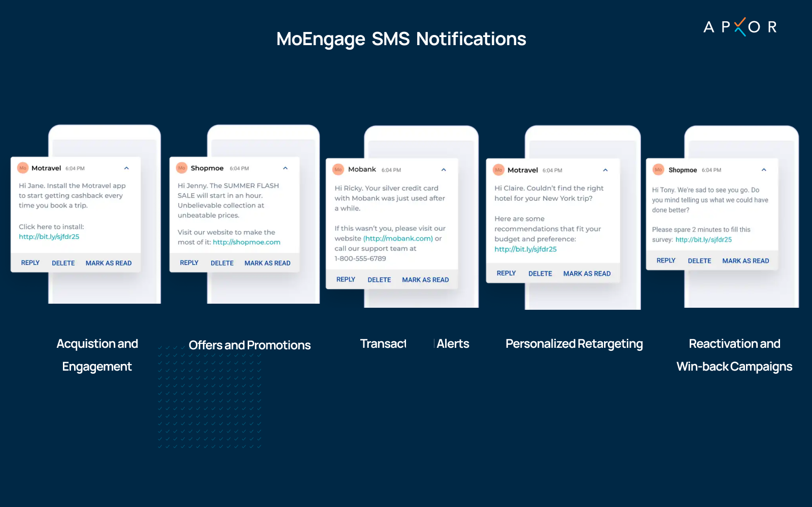 Moengage SMS Notifications - Apxor