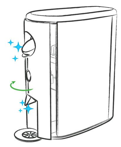 illustration du nettoyage du presse-agrumes arcimboldo