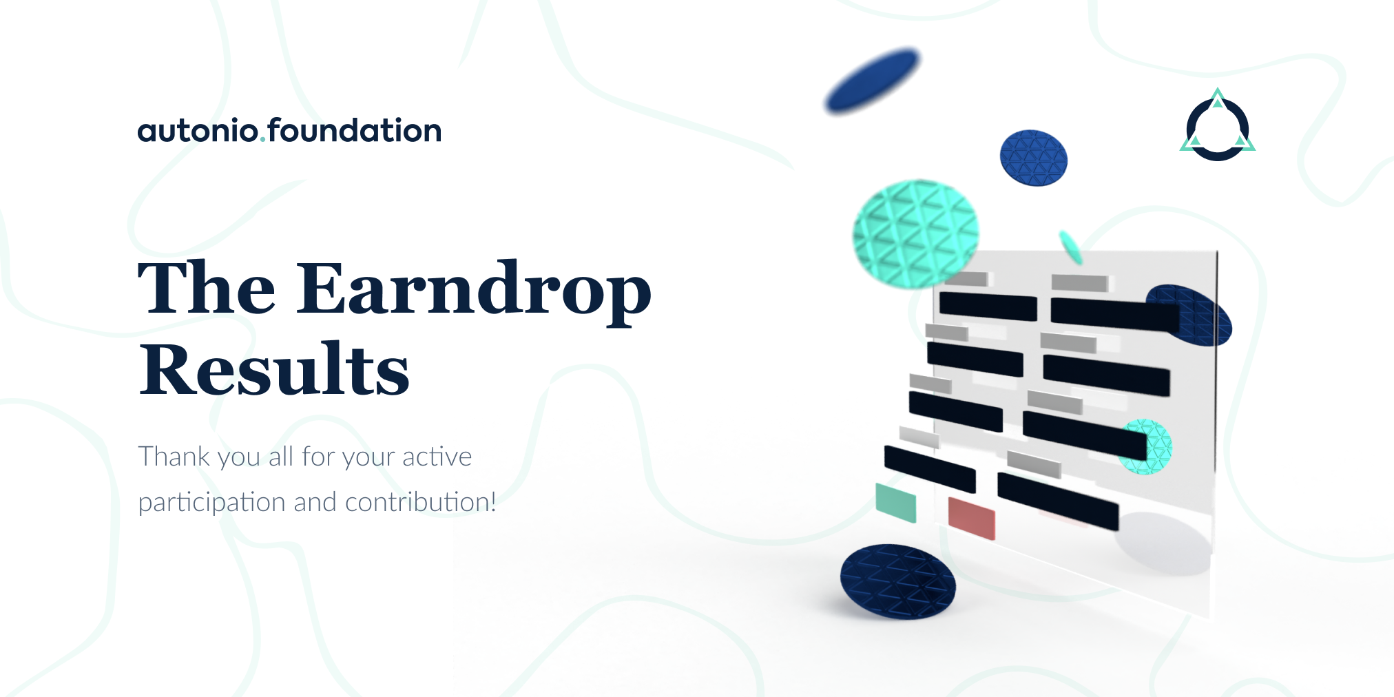 The Earndrop Results are in