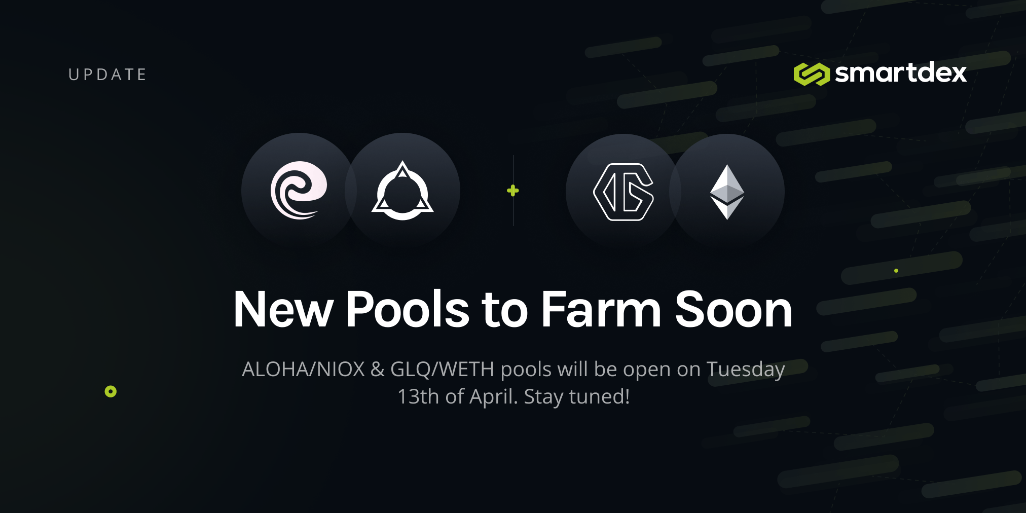 Two New Pools to Trade and to Farm