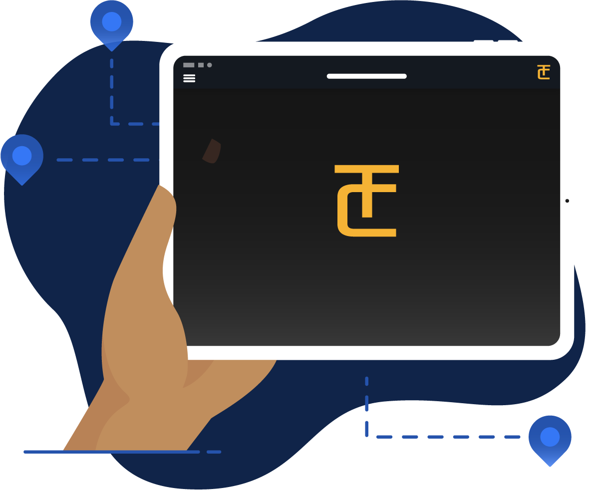 Tablet Icon with TerraClear Logo