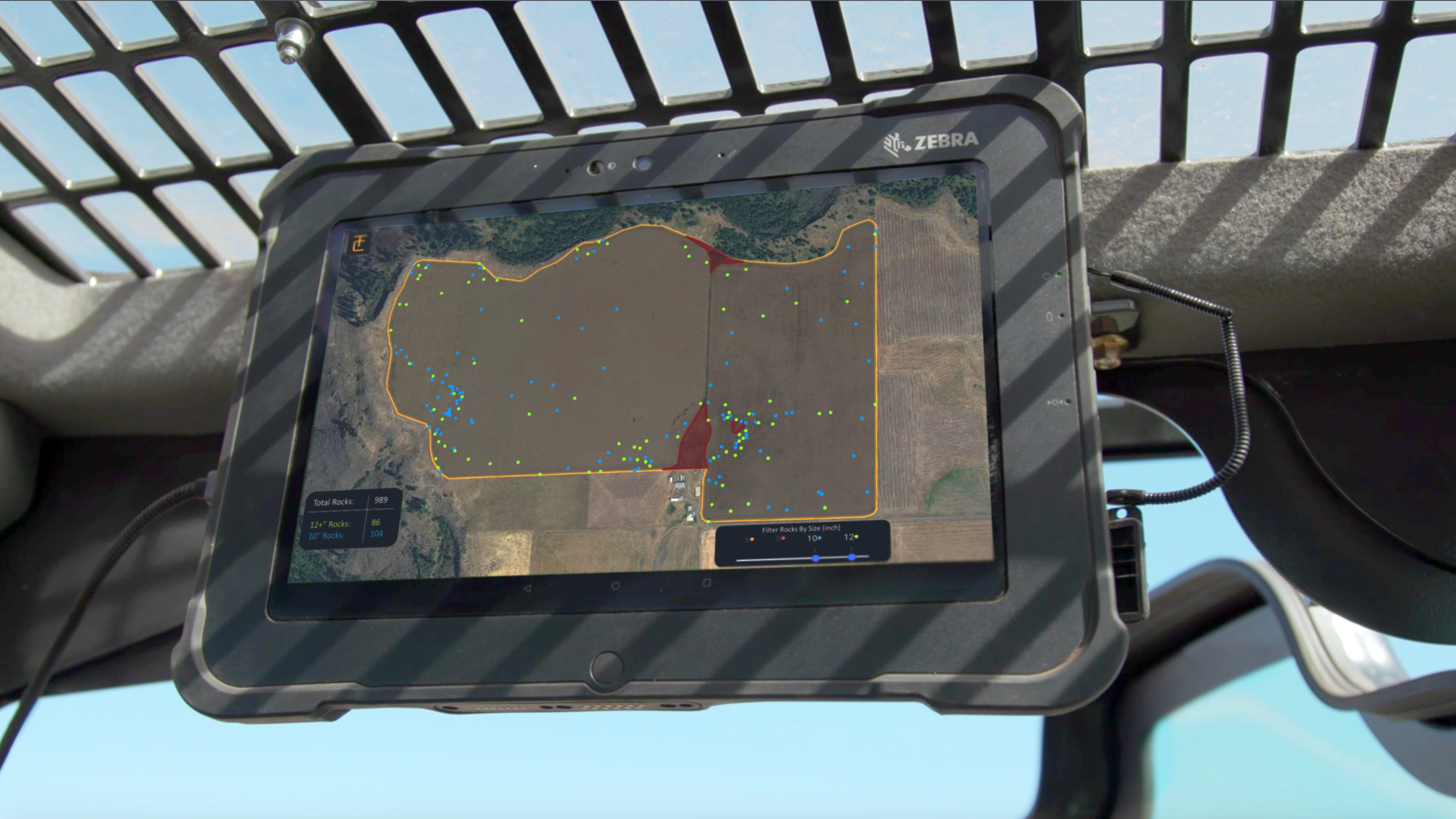 Rock Mapping Service Shown On A Ipad