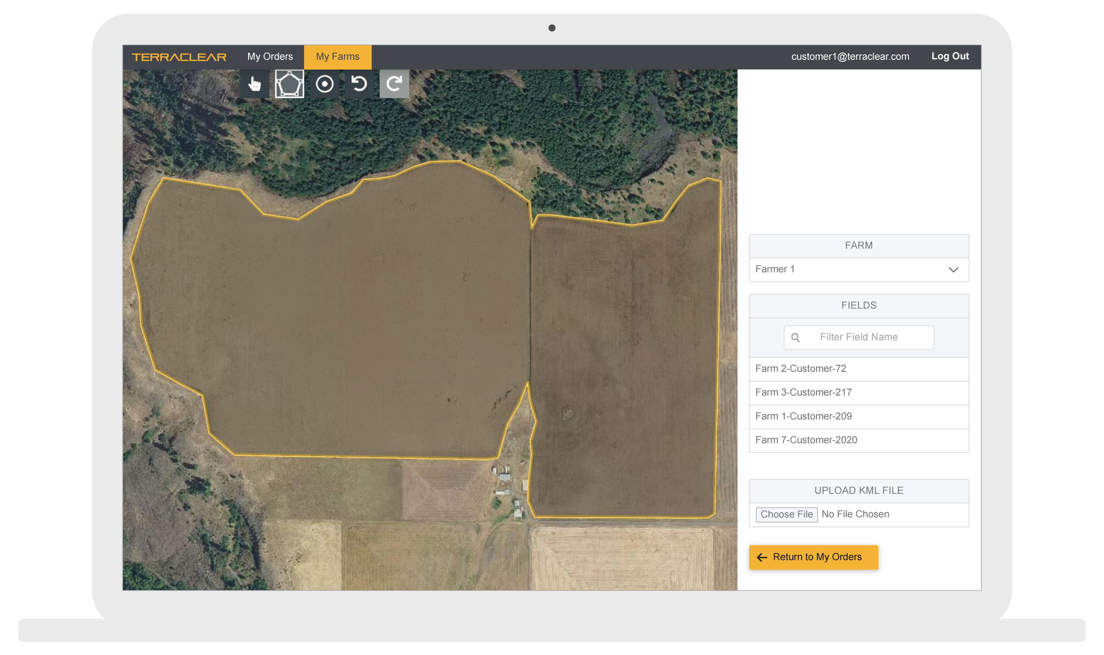 TerraClear app for mapping your field