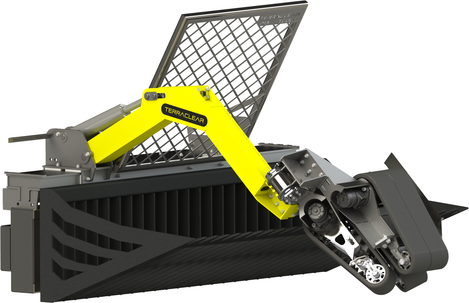Compatible rock picker with most skid steers