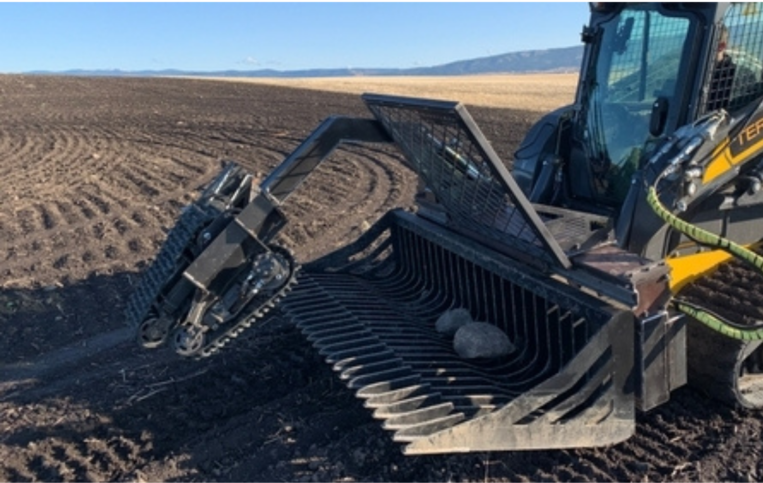 Picking rock is hard work. TerraClear makes it easy.