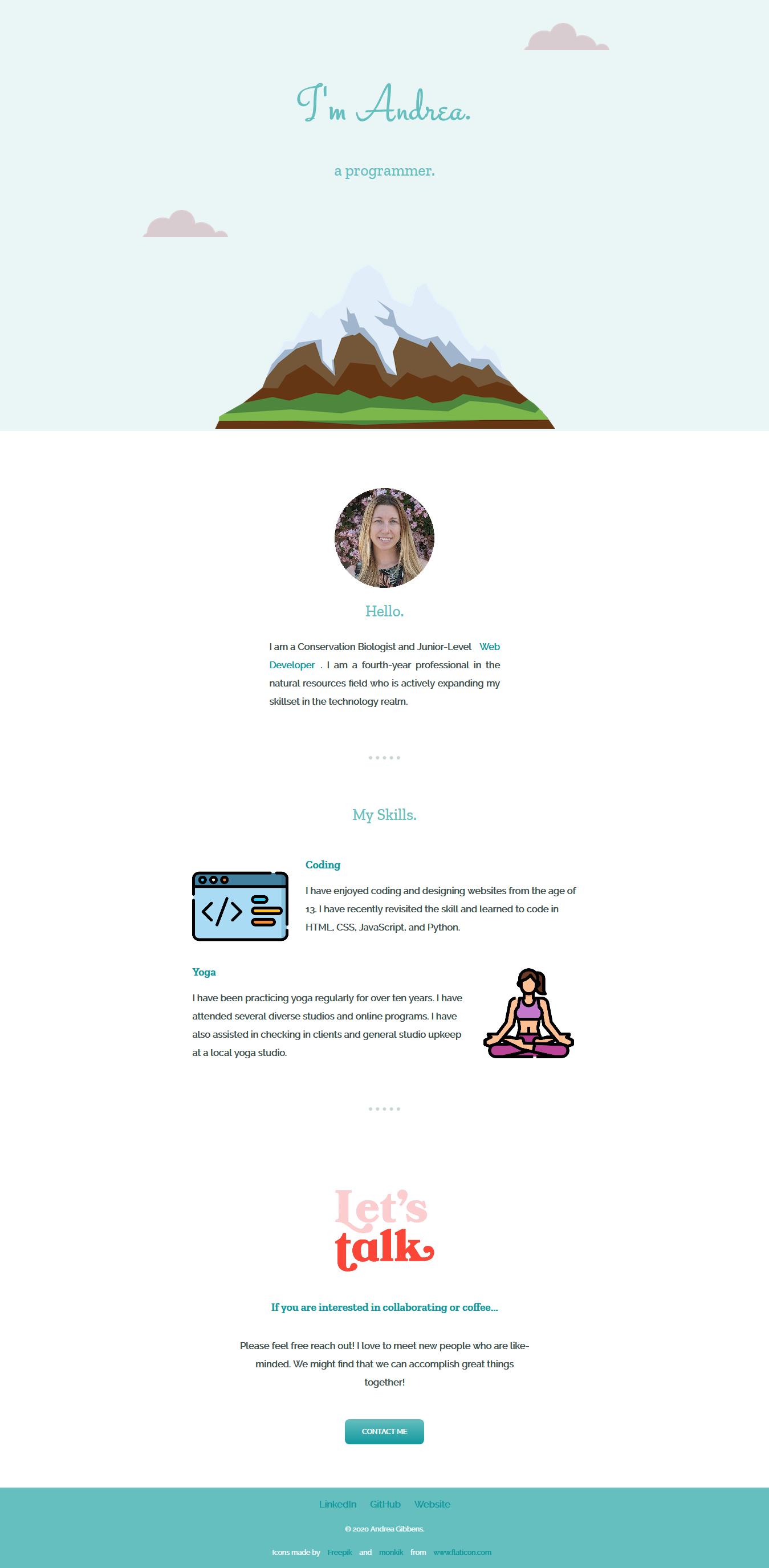 Landing page build