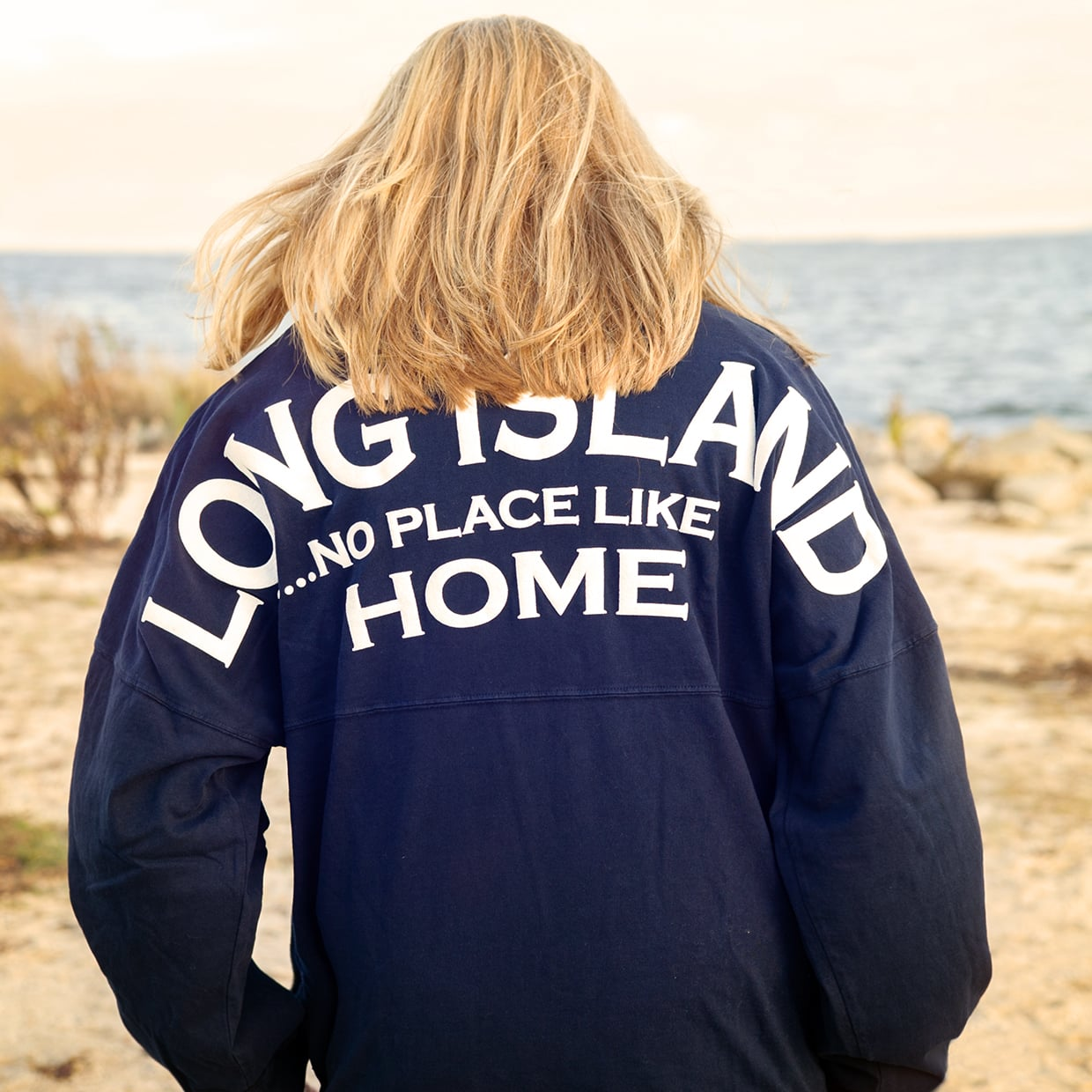 Long Island... No Place Like Home Jerseys on the beach overlooking the ocean