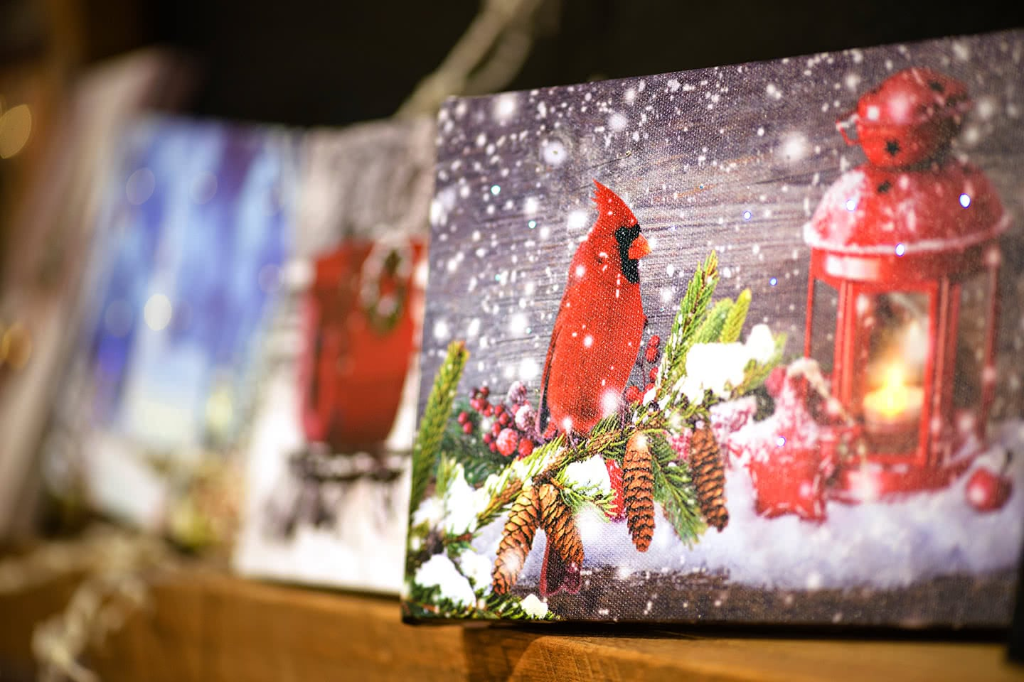 Winter Cardinals in the Snow Wall Decor