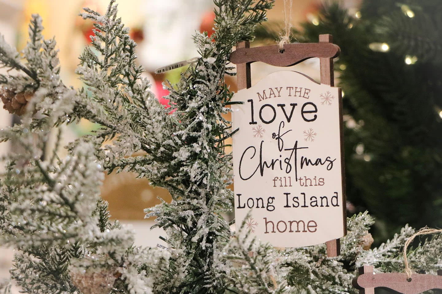 May the Love of Christmas fill this Long Island Home - Sled Ornament