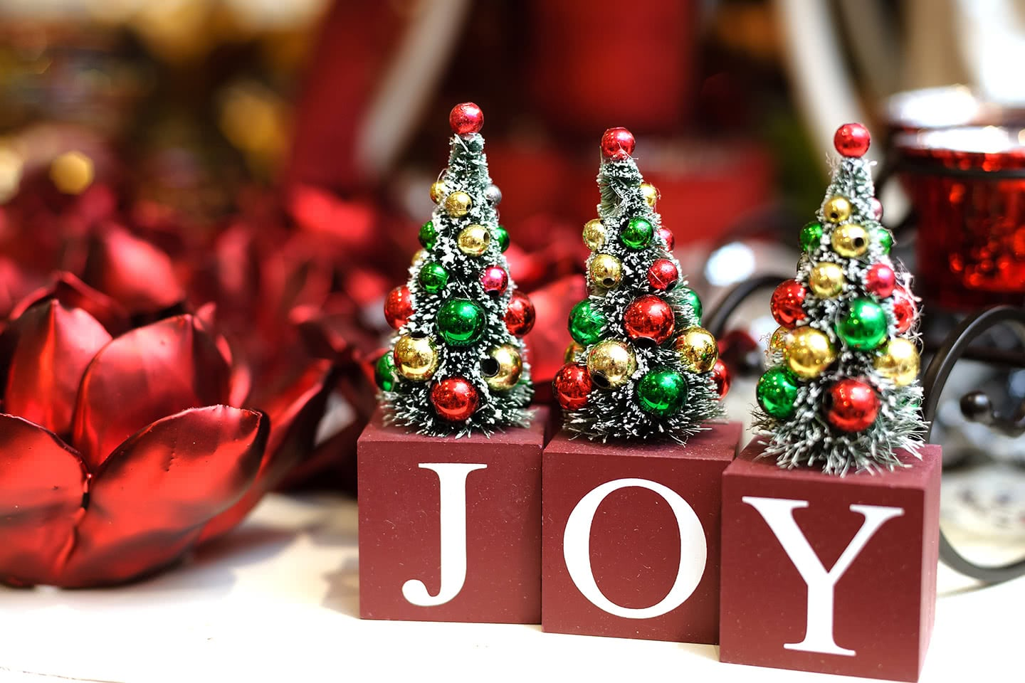 Joy to the World and Christmas Tree Figurines