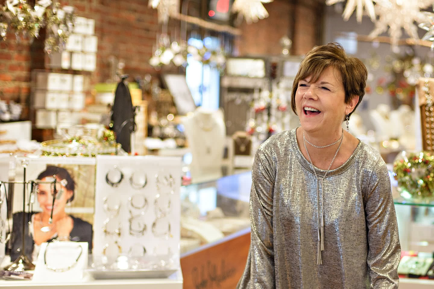 A Holiday Smile goes with everything at our Christmas Store in Bay Shore, Long Island