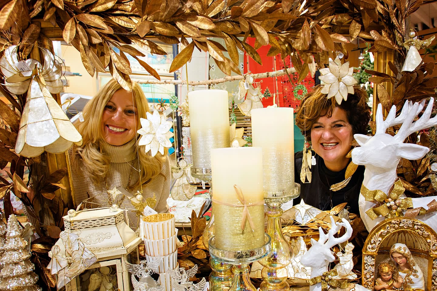 Our Winter Wonderland at Willy Nilly Christmas Store with Holiday Decor