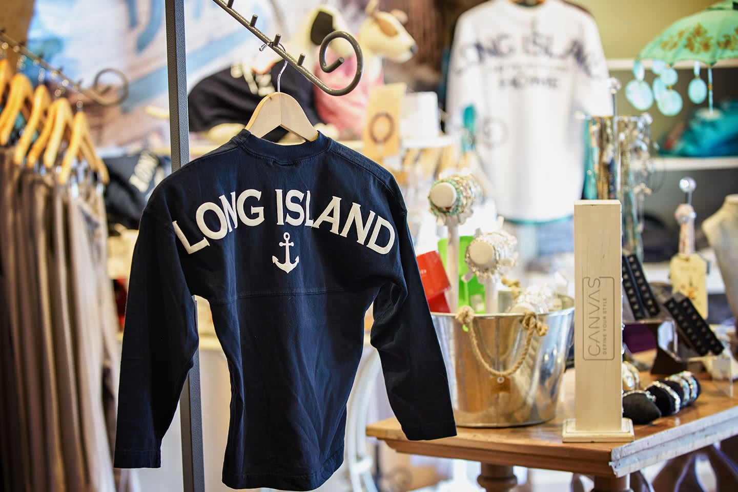 So Proud to Call Long Island our Home - Long Island Anchor Shirt at Willy Nilly Trading
