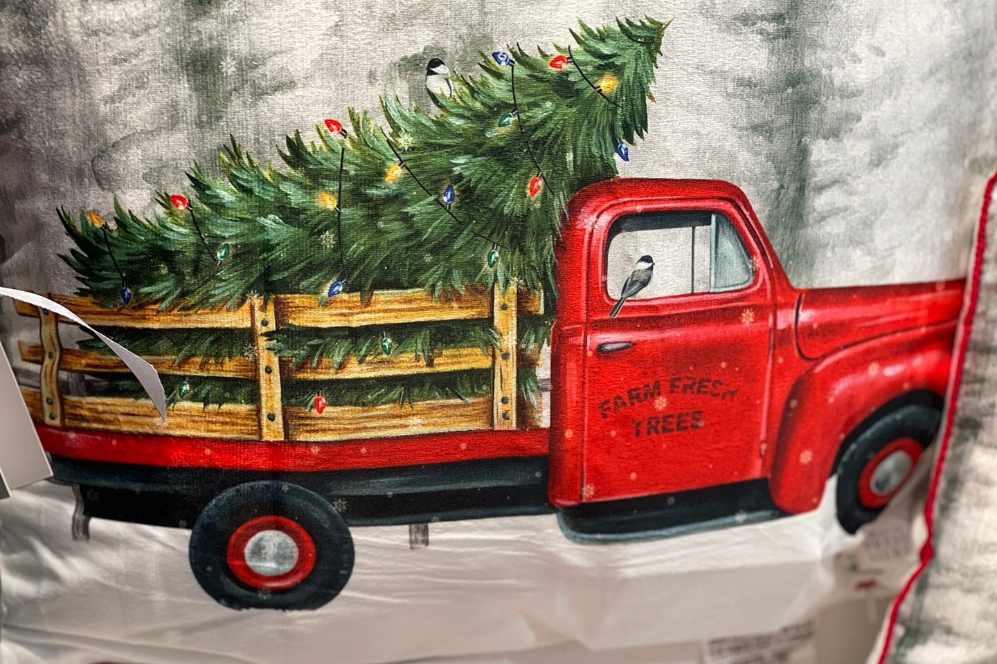 Farm Fresh Trees Red Truck with Christmas Trees