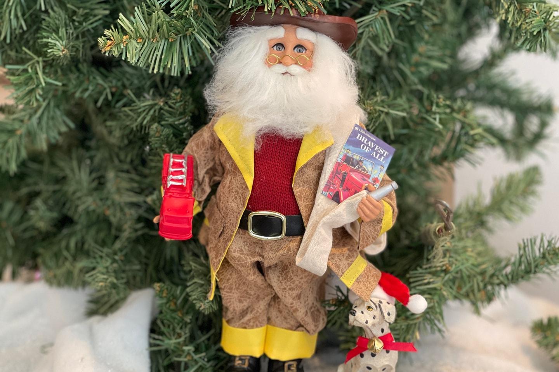 Bravest of All - Fireman Santa Ornament