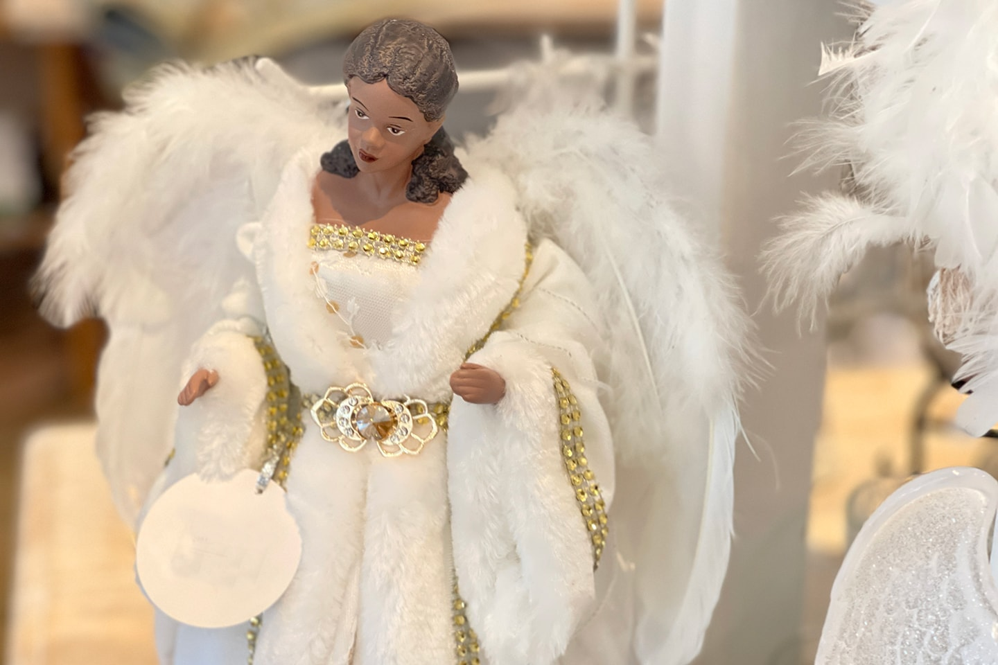 Angel with Wings Figurine African American