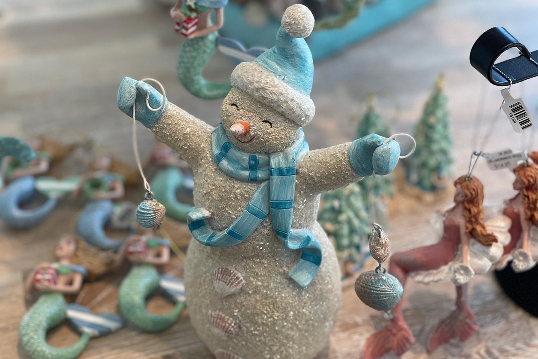 Winter Blue Snowman