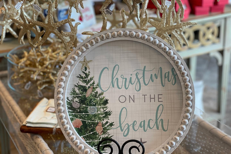Christmas on the Beach Wall Decor