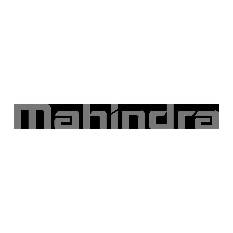 Mahindra logo grayscale