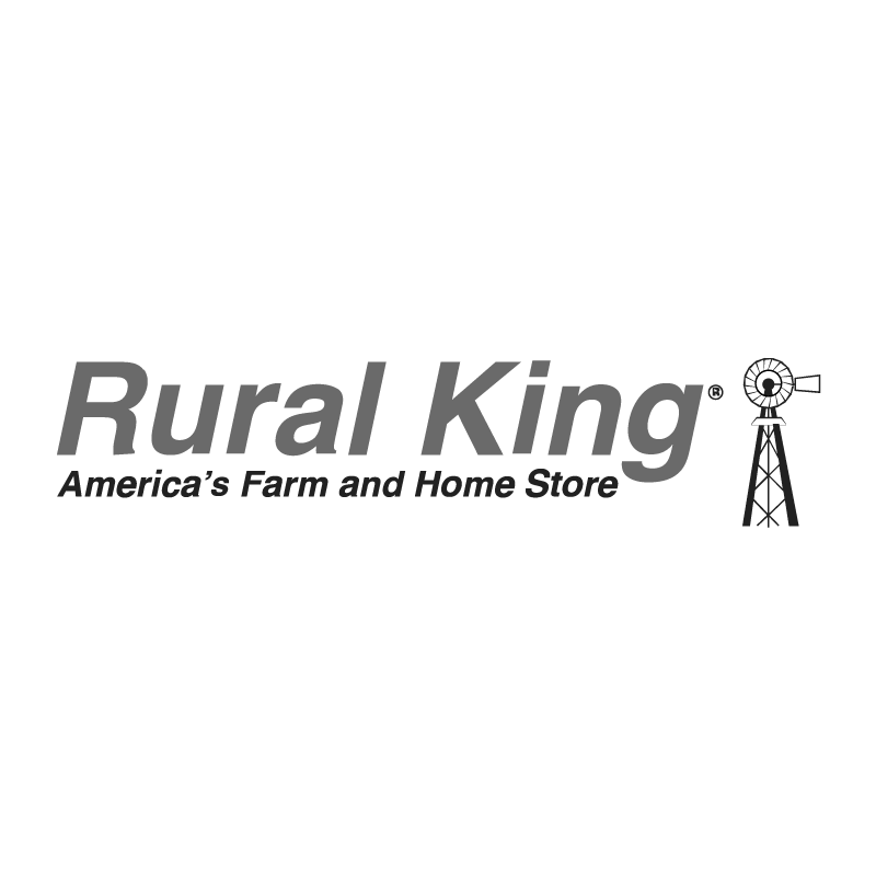 Rural King logo grayscale