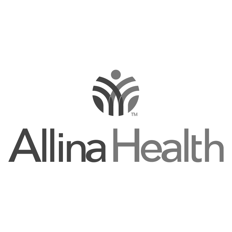 Allina Health logo grayscale