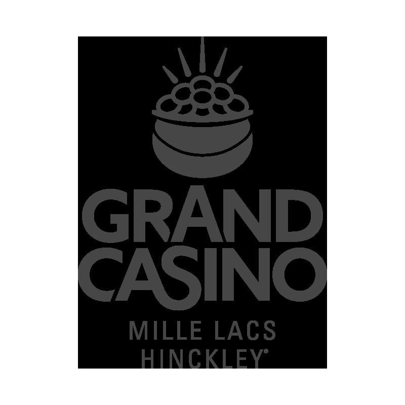 Grand Casino logo grayscale