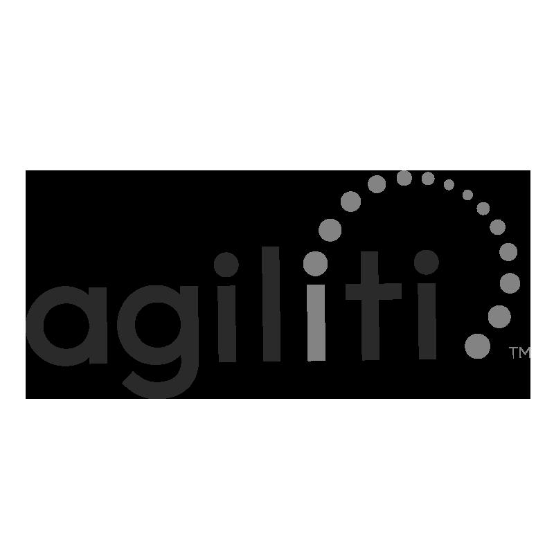 Agiliti logo grayscale