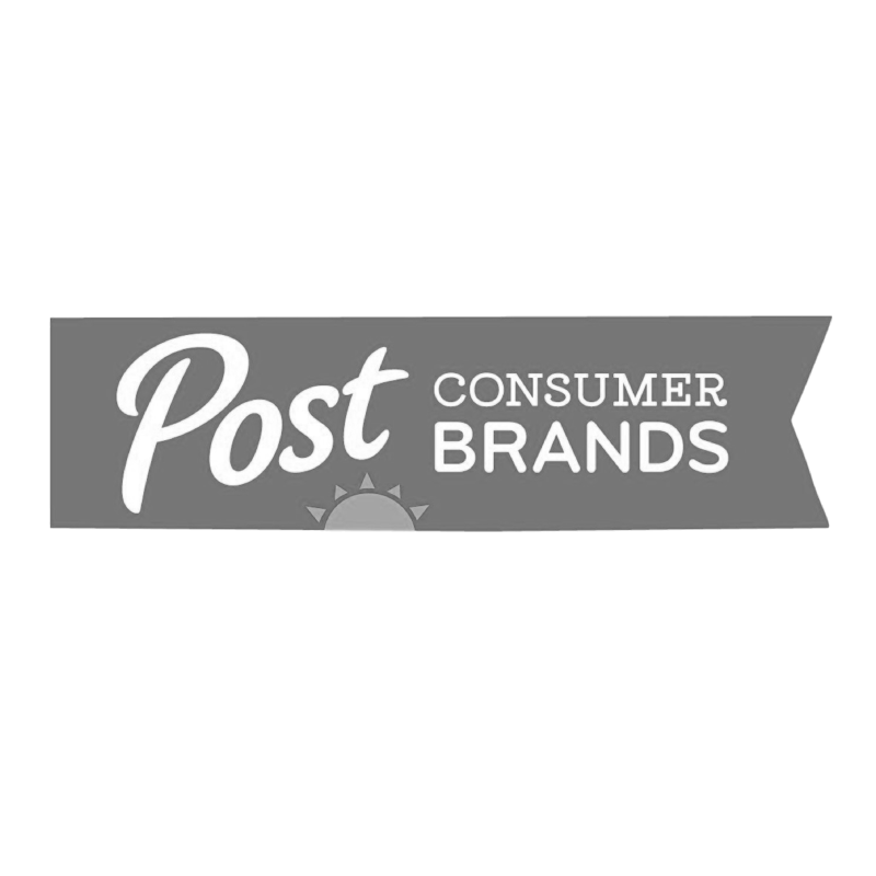 Post Consumer Brands logo grayscale